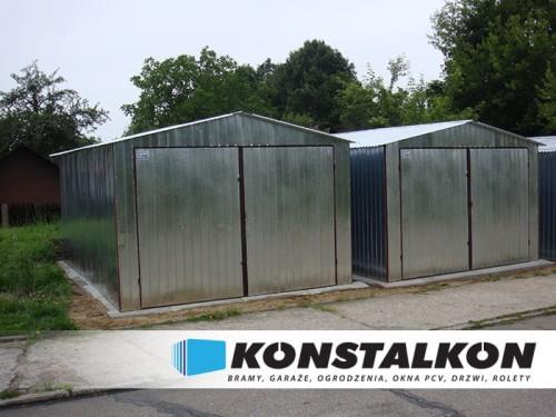Garaż Blaszany 3x5 Z Dachem Dwuspadowym Konstalkon Konrad Dargiel