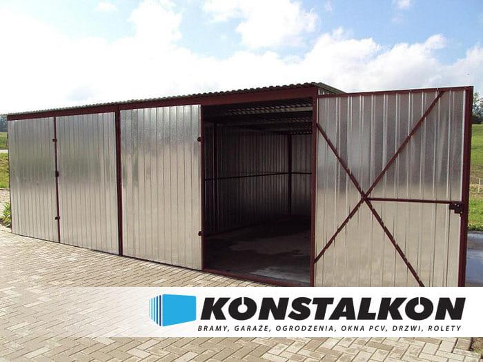 Garaż Blaszany Dwustanowiskowy Konstalkon Konrad Dargiel